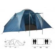 Šator za 4 osobe s 2. odvojene spavaone