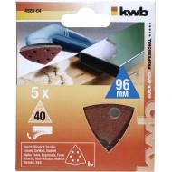 QUICK-STICK set brusnih papira za trokutastu brusilicu 5/1, 96mm, 40g