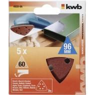 QUICK-STICK set brusnih papira za trokutastu brusilicu 5/1, 96mm, 60g