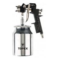 Pištolj za boju s metalnom posudicom Topex 75M206 - 1,5 mm, 1.0 l