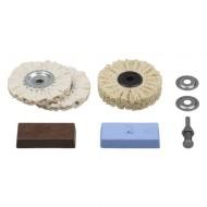 Garnitura za poliranje mesinga, bakra, aluminija i inoxa Wolfcraft W2179