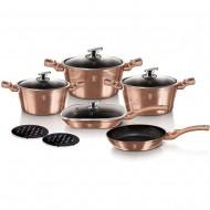 Berlinger Haus BH/6191 - 11 djelni set za kuhanje, Metallic Line Rose Gold Edition