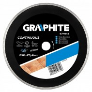 Dijamantna rezna ploča 250x25.4 mm Graphite 57H645