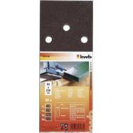 KWB Brusni papir za drvo i metal, 93x230 mm, tip A, s rupama, 30/1, SPARPACK