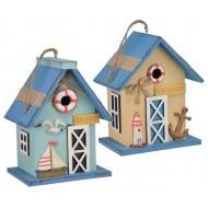 Kućica za ptice u mornarskom dizajnu
