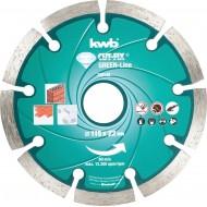 KWB CUT-FIX dijamantna rezna ploča 115x1,6 mm, Green-Line