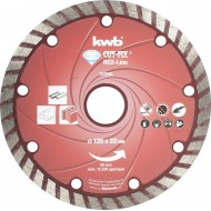 KWB CUT-FIX dijamantna rezna ploča 125x2,3 mm, Red-Line